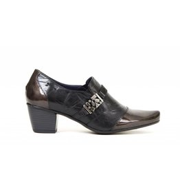 Dorking Triana Black/Grey Patent