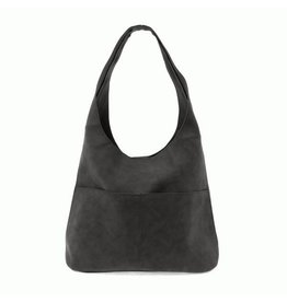 Joy Susan Jenny Faux Suede Handbag Black