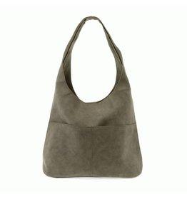 Joy Susan Jenny Faux Suede Handbag Sage