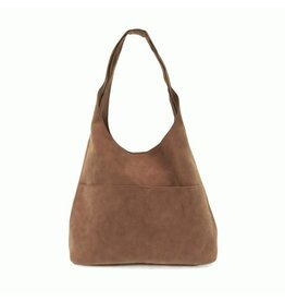 Joy Susan Jenny Faux Suede Handbag Latte