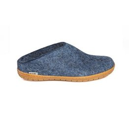 Glerups The Slipper Rubber Sole Denim