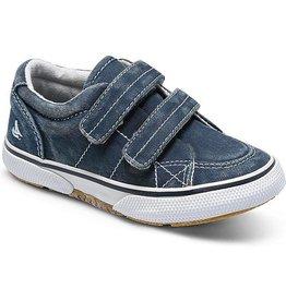 Sperry Kids Halyard Hook & Loop Sneaker, Navy