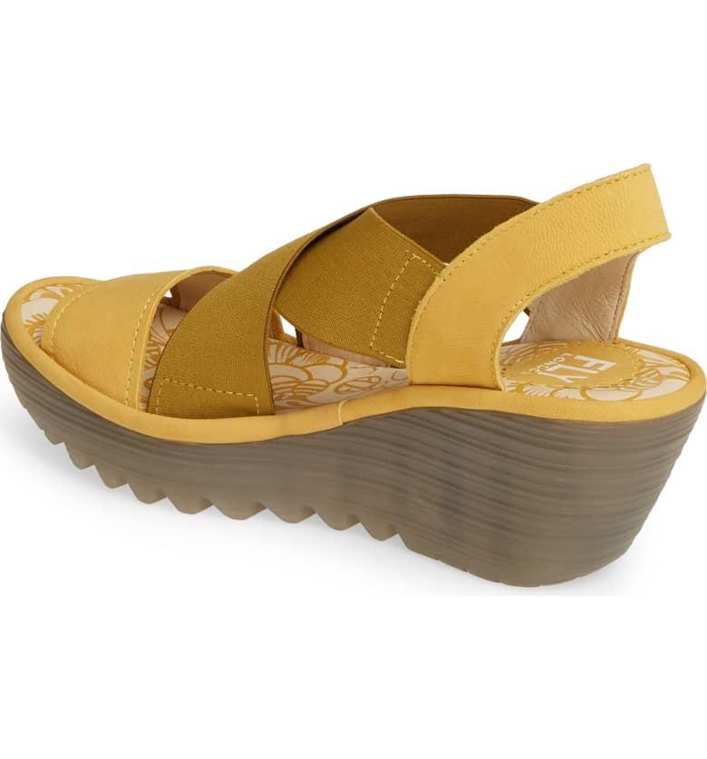 Fly London Fly London Yaji Cross Wedge Sandal Yellow