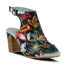 L'Artiste Tapestry Black Multi Heel