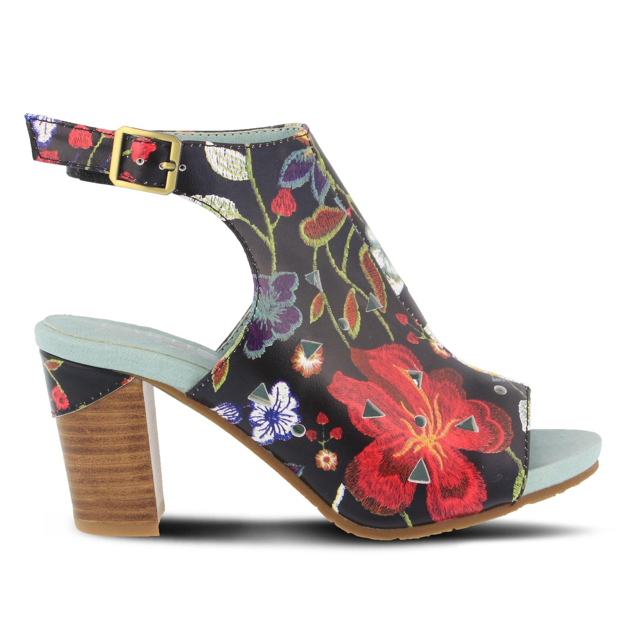 L' Artiste L'Artiste Tapestry Black Multi Heel