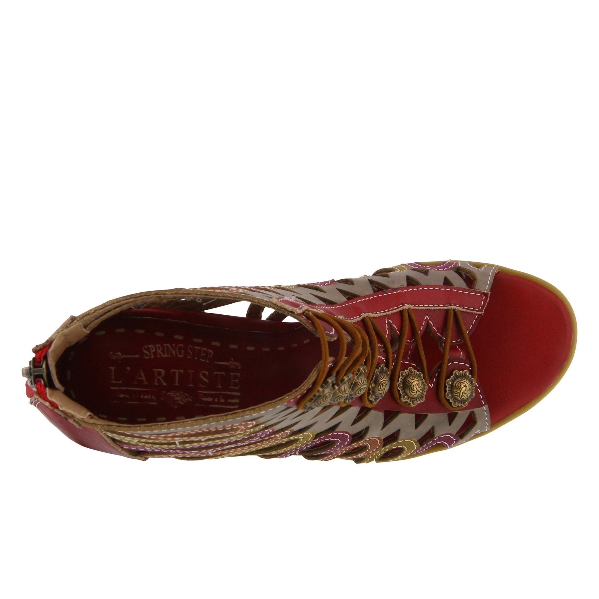 L' Artiste L'Artiste Julian Shootie Red Multi