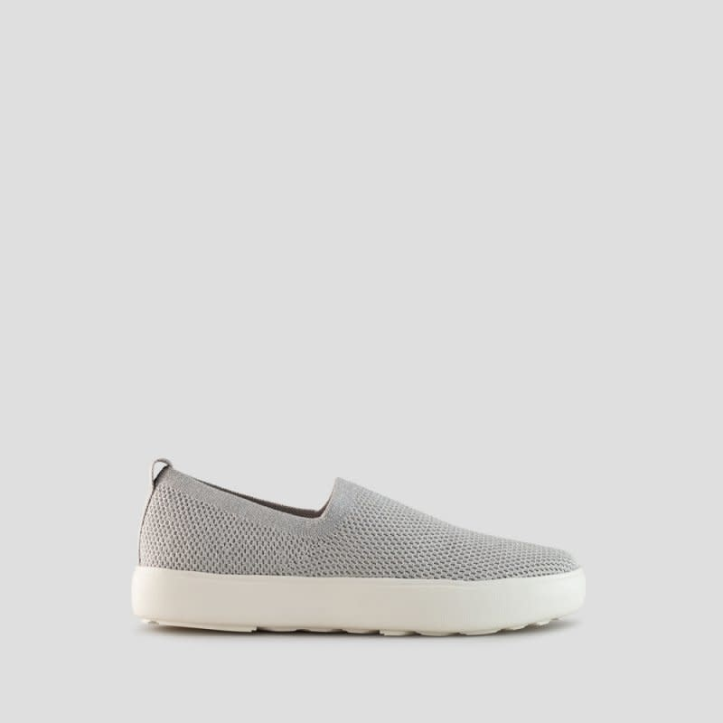 Courgar Hint Metallic Stretch Knit Slip-on Silver
