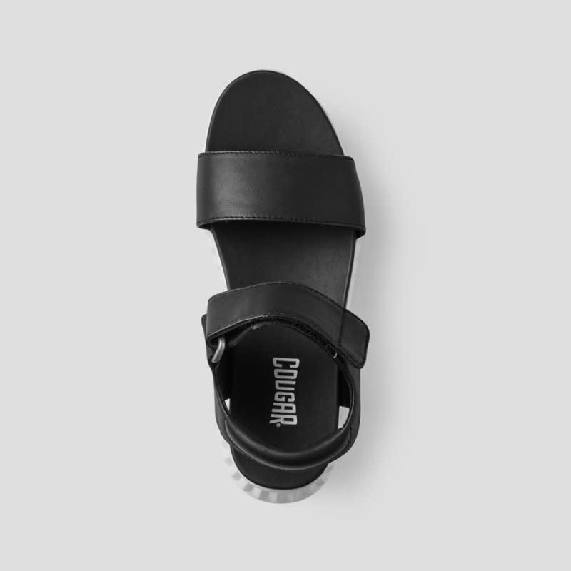 Cougar Fiesta Leather Sandal Black/White