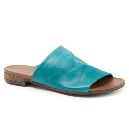 Bueno Tunner Leather Slide Turquoise