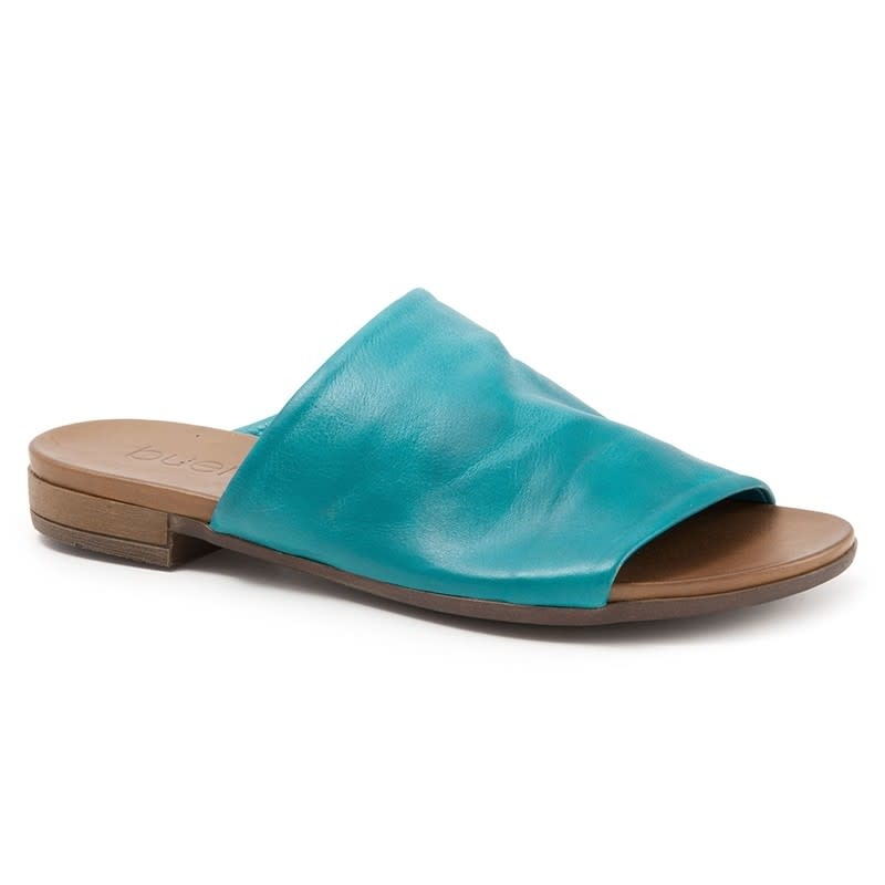 Bueno Bueno Tunner Leather Slide Turquoise