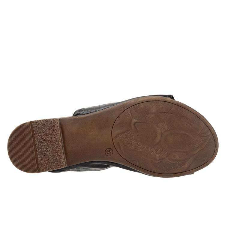 Bueno Bueno Turner Leather Slide Black