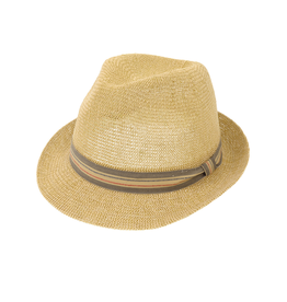 Joy Susan Woven Striped Fedora