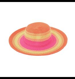 Joy Susan Oatmeal Striped Sun Hat