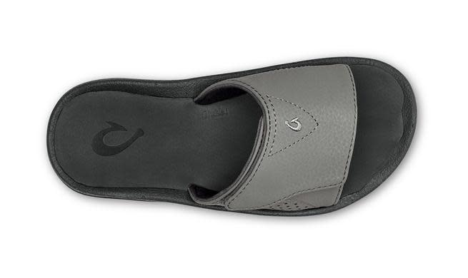 OluKai Olukai Boys Nalu Slide Charcoal/Lava Rock