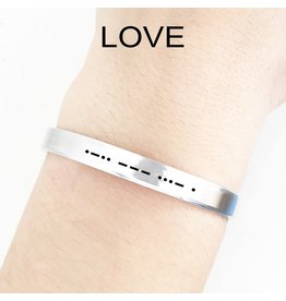 Clair Ashley Morse Code LOVE Cuff