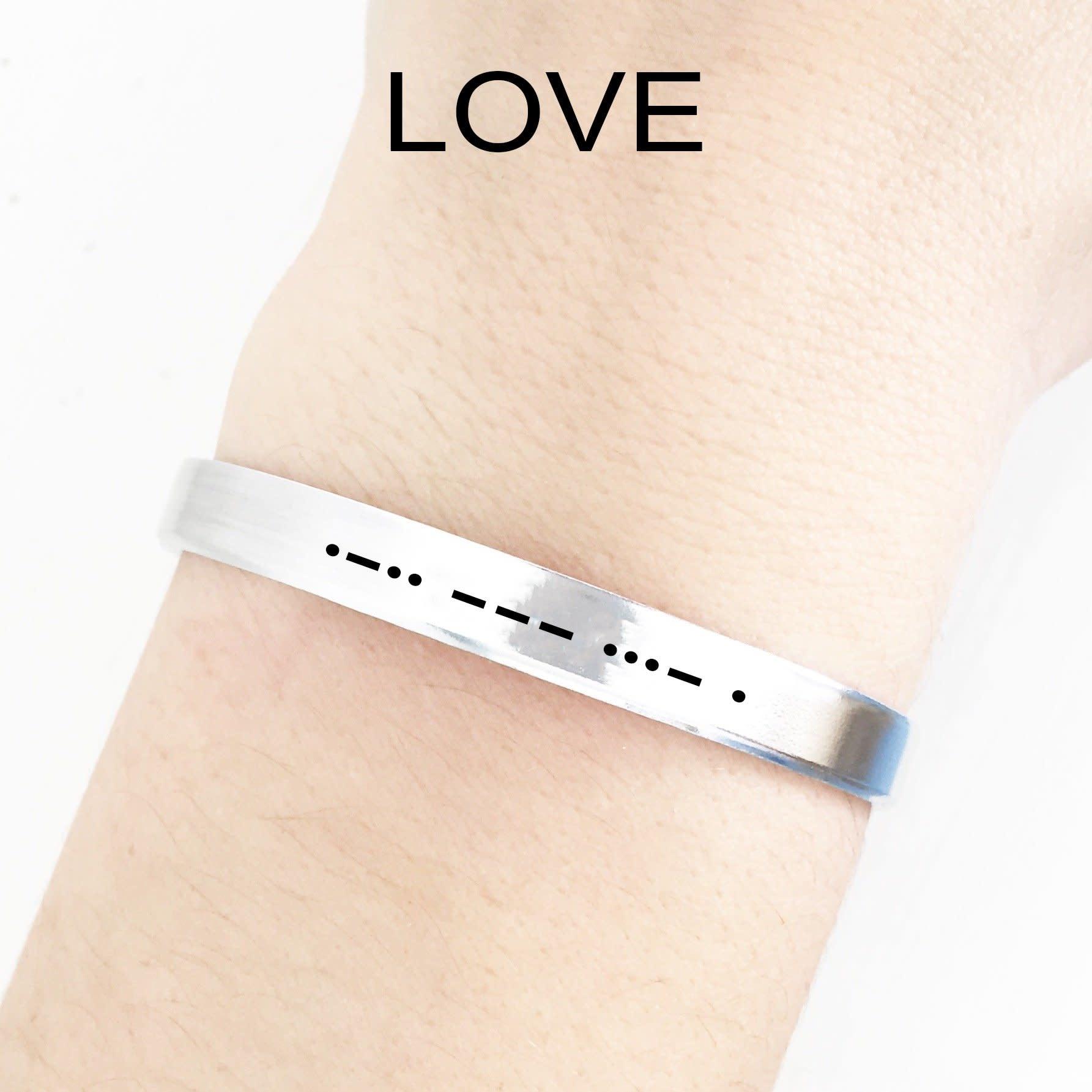 Clair Ashley Clair Ashley Morse Code LOVE Cuff