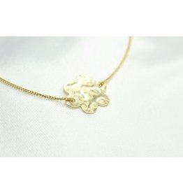 Finches' Flower Necklace Gold