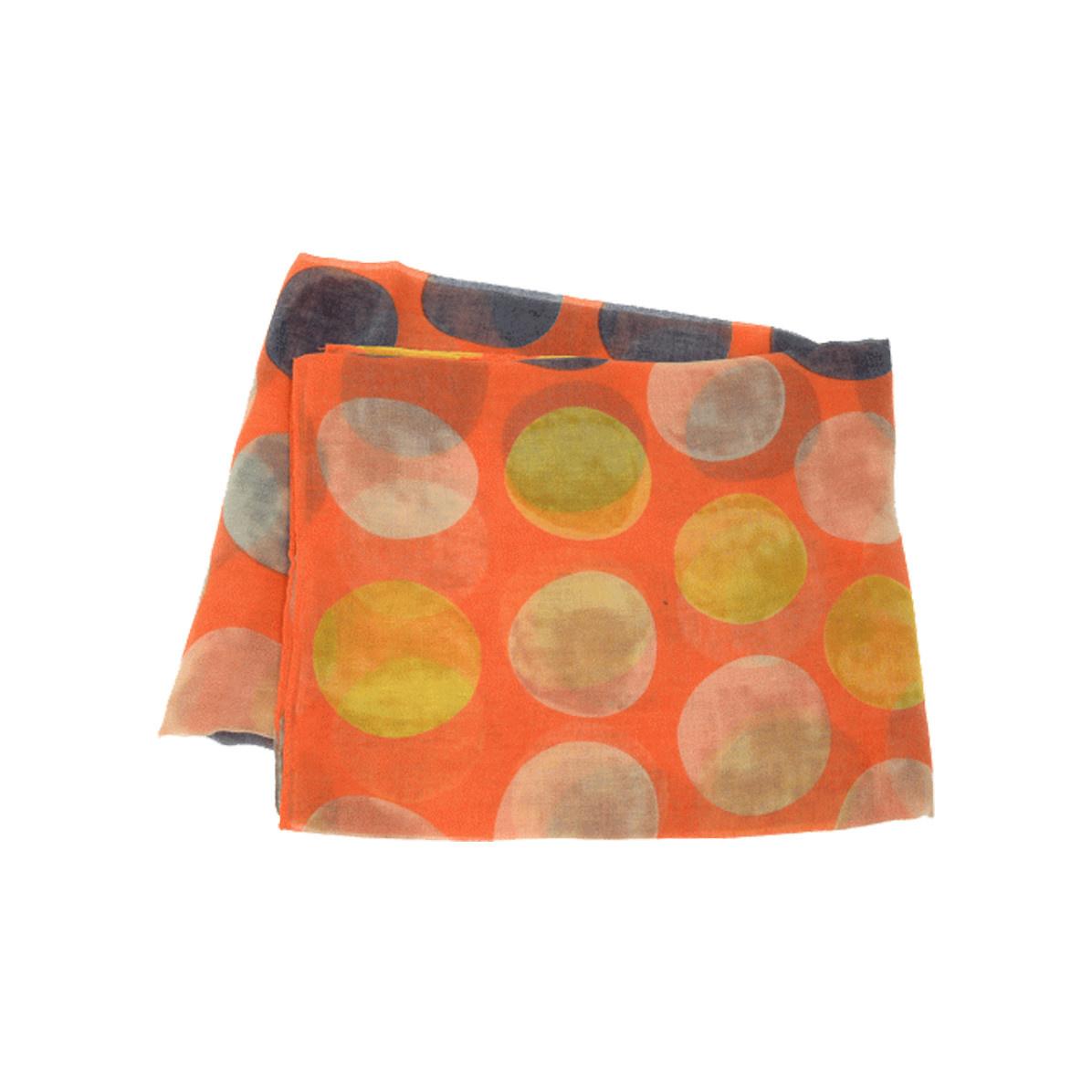 Joy Susan Joy Susan Watercolor Dot Scarf Orange