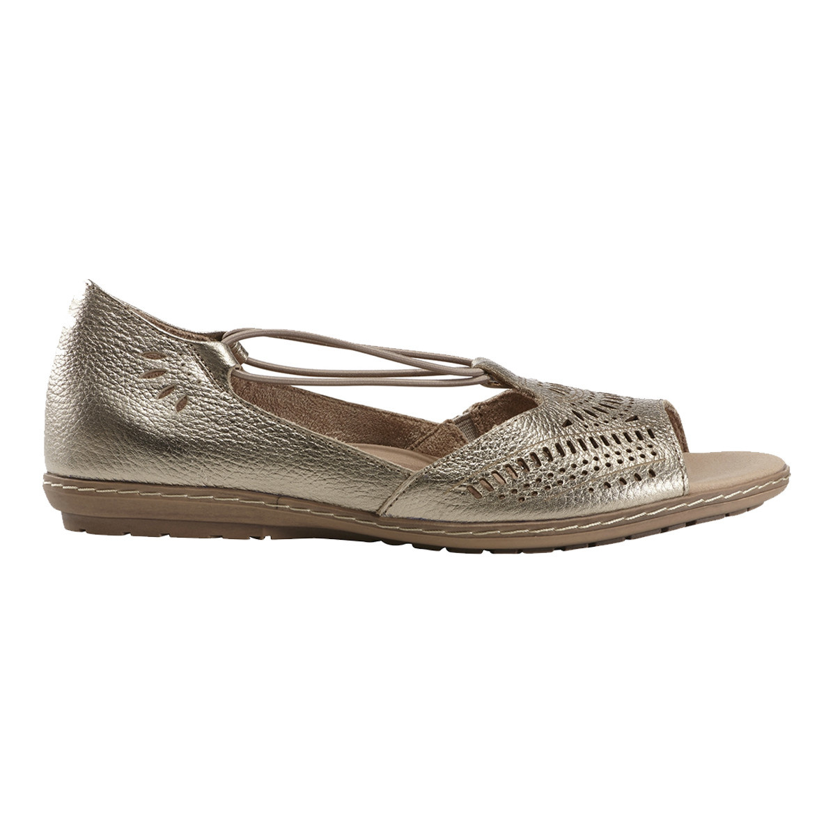 Earth Earth Nauset Sandal Washed Gold