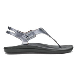 Olukai Girls Eheu Sandal Silver/Charcoal