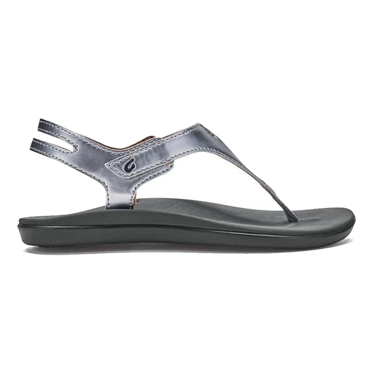 OluKai Olukai Girls Eheu Sandal Silver/Charcoal