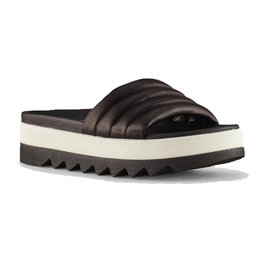 Cougar Prato Leather Slip on Sandal Black