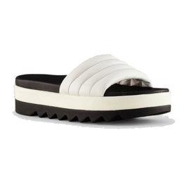Cougar Prato Leather Slip on Sandal White