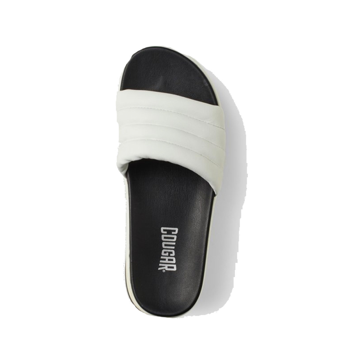 Cougar Prato Leather Slip on Sandal White