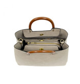 Joy Susan Joy Susan Angie Vintage Satchel with Wood Handle Oyster