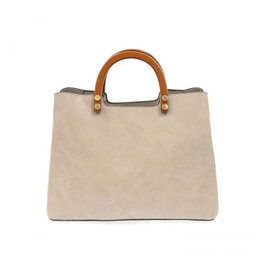 Joy Susan Angie Vintage Satchel with Wood Handle Oyster