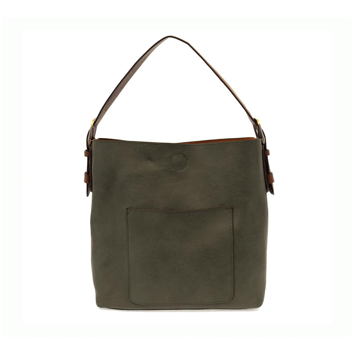 Joy Susan Joy Susan Classic Hobo Handbag Dark Olive