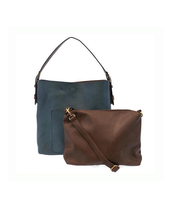 Joy Susan Classic Hobo Handbag Dark Chambray