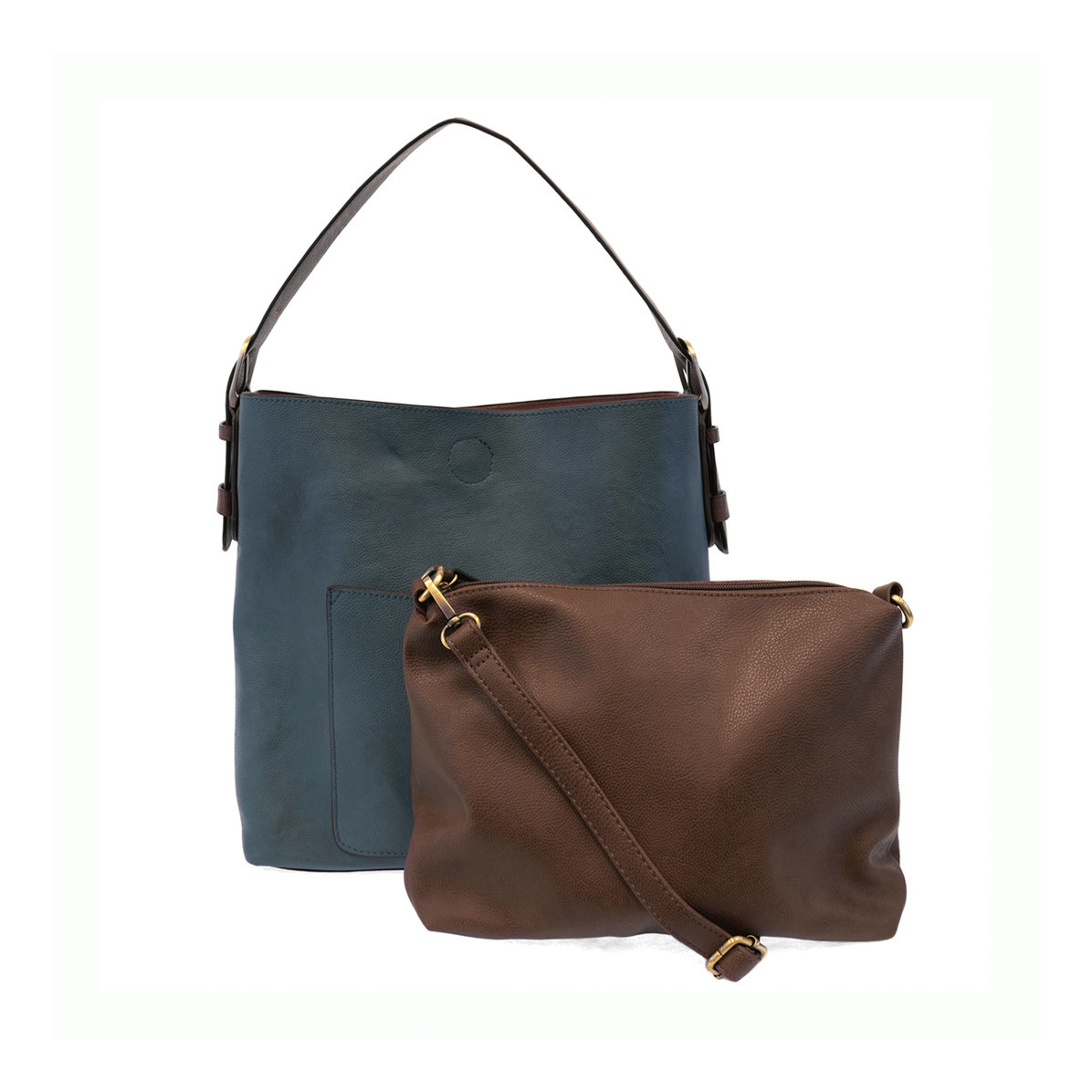 Joy Susan Joy Susan Classic Hobo Handbag Dark Chambray