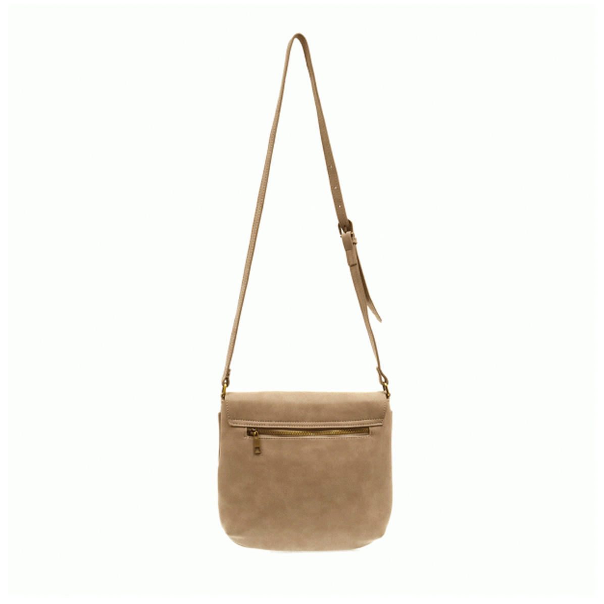 Joy Susan Joy Susan Jackie Flap Sueded Crossbody Handbag Camel