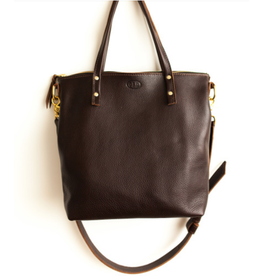 Outlaw Handmade Leather Handbag Brn