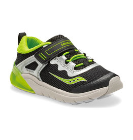 Saucony Youth Flash Glow Black/Green