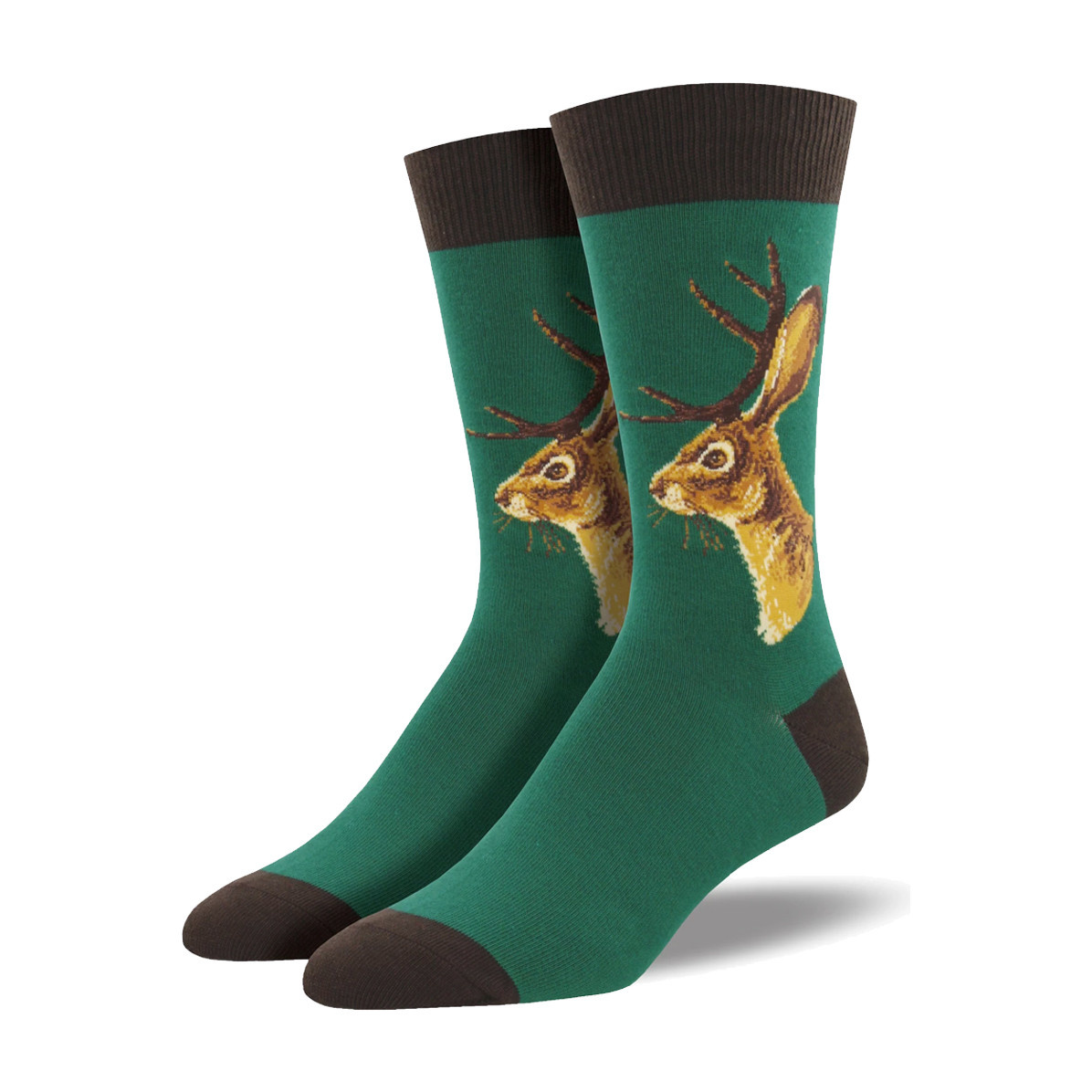 Socksmith Socksmith Men's Cotton Crew Socks Jackalope