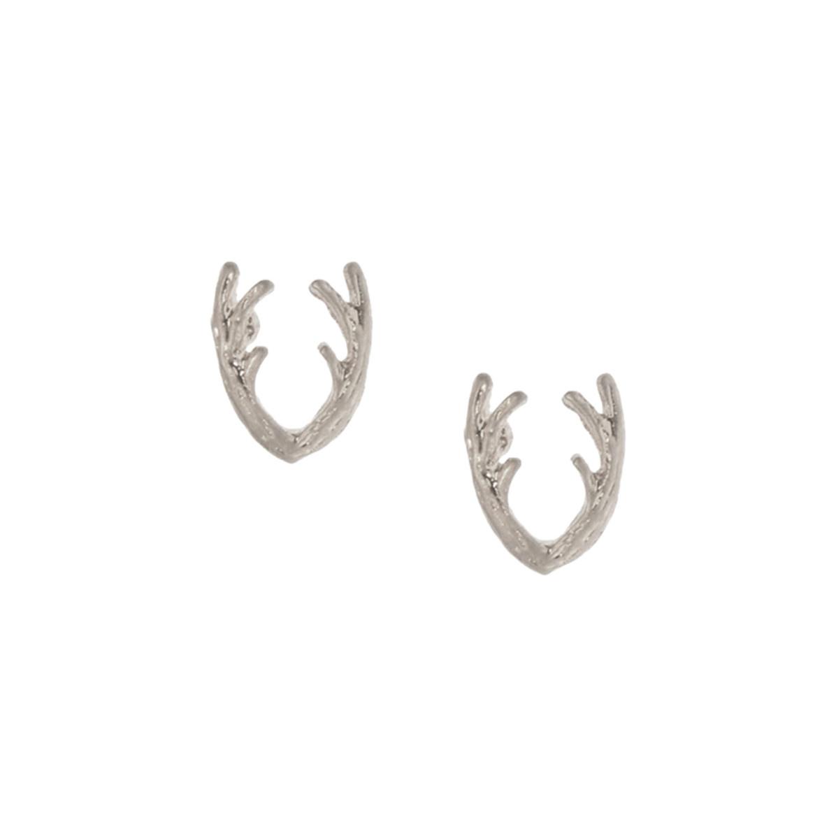 Joy Susan Joy Susan Antler Post Earrings Silver