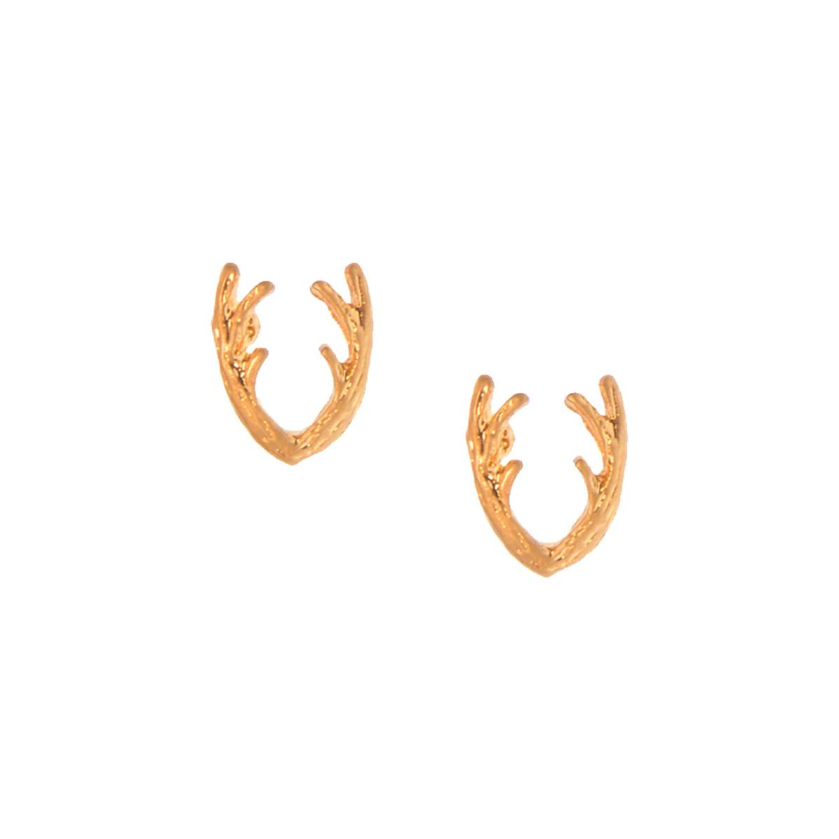 Joy Susan Joy Susan Antler Post Earrings Gold