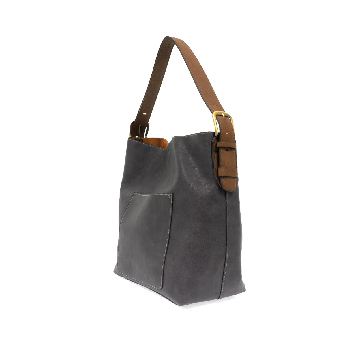 Joy Susan Joy Susan Classic Hobo Handbag Slate Blue
