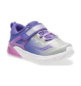 Saucony Youth Flash Glow Purple/Silver