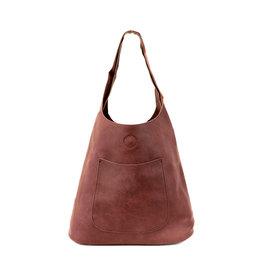 Joy Susan Molly Slouchy Hobo Handbag Burgundy