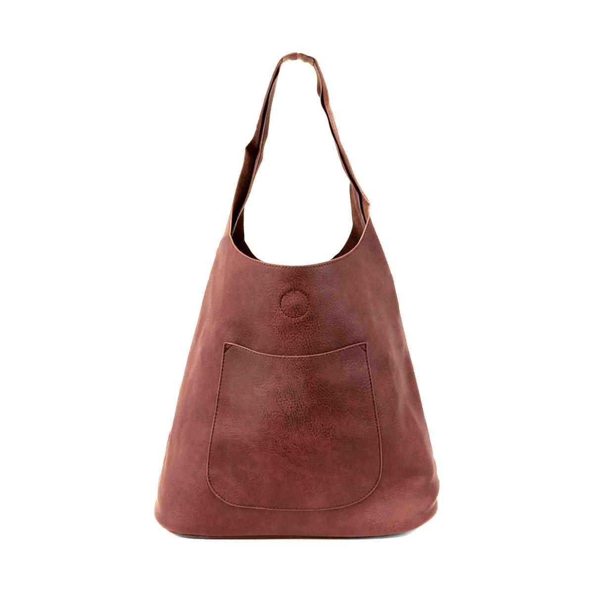 Joy Susan Joy Susan Molly Slouchy Hobo Handbag Burgundy
