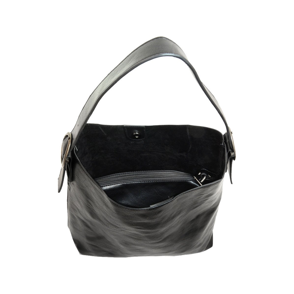 Joy Susan Joy Susan Jillian Hobo Handbag with Tassel Black