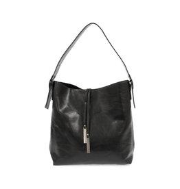 Joy Susan Jillian Hobo Handbag with Tassel Black