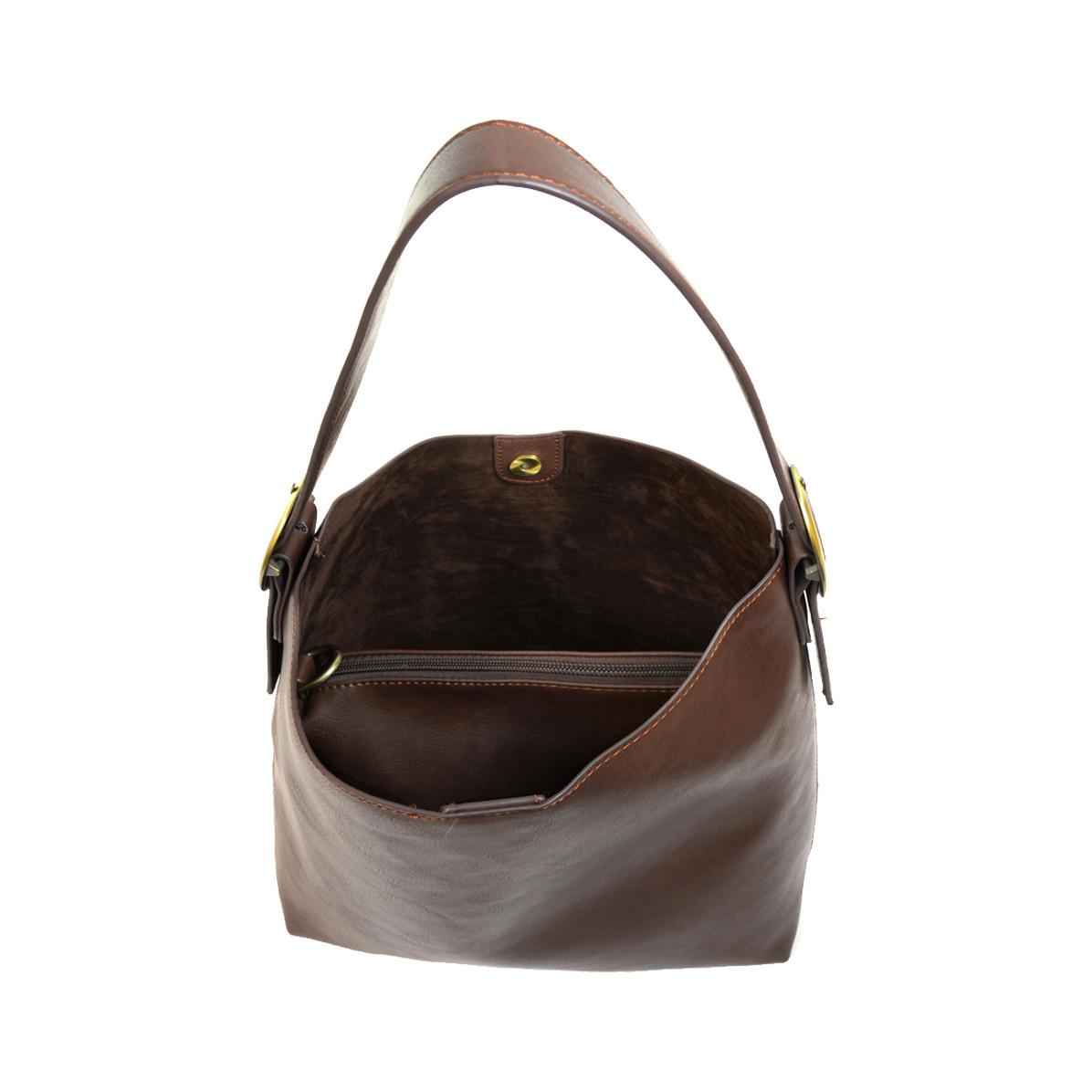 Joy Susan Joy Susan Jillian Hobo Handbag with Tassel Chocolate