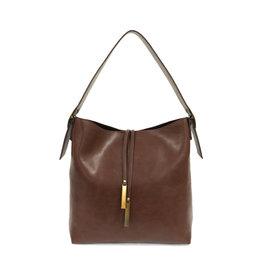 Joy Susan Jillian Hobo Handbag with Tassel Chocolate
