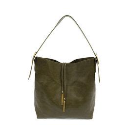 Joy Susan Jillian Hobo Handbag with Tassel Olive