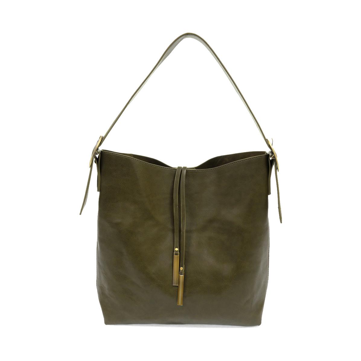 Joy Susan Joy Susan Jillian Hobo Handbag with Tassel Olive