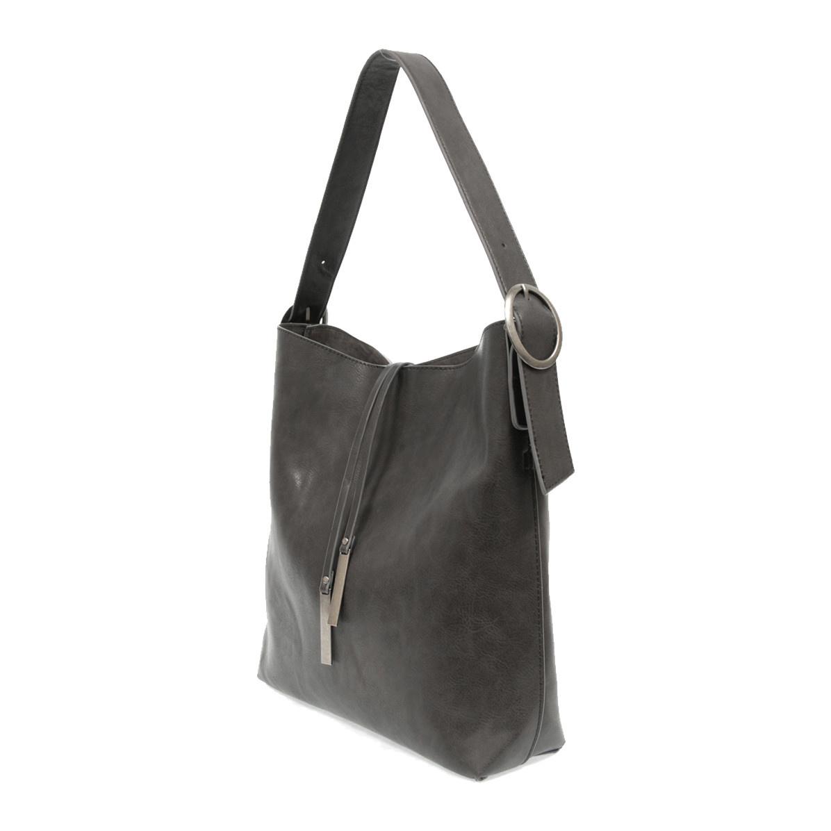 Joy Susan Joy Susan Jillian Hobo Handbag with Tassel Charcoal